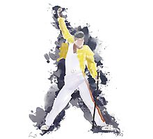Freddie Mercury Splash Watercolor Photographic Print