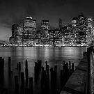 Manhattan Skyline from Brooklyn, Night by Paul Politis