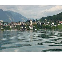 Before the storm on lake Thun, Switzerland Photographic Print