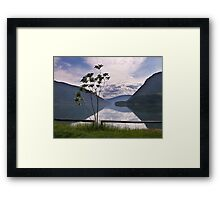 Evening at Lower Arrow Lake Framed Print