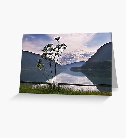 Evening at Lower Arrow Lake Greeting Card