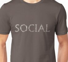 Social Network Typography Unisex T-Shirt