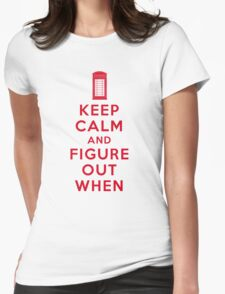 Keep Calm and Figure Out When (light t-shirt) Womens Fitted T-Shirt