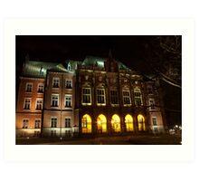 Jagiellonian University Collegium Novum Krakow, Cracow Poland Art Print