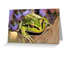 It's not easy being green Greeting Card