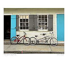 French Quarter Bicycle Shop Photographic Print