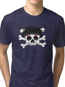 indian skull horns Tri-blend T-Shirt