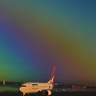 Rainbow on the Plane by Robyn Forbes