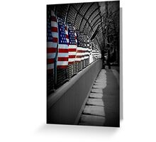 American Flags Over the Highway Greeting Card