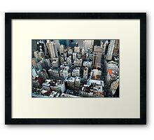 New York skyscrapers Framed Print