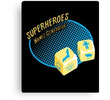 Superheroes name-generator Canvas Print