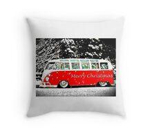 Festive Bus Throw Pillow