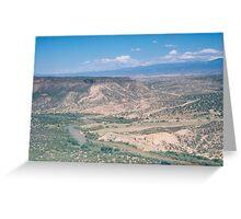 Rio Grande River, Los Alamos Mountains, Los Alamos, New Mexico Greeting Card
