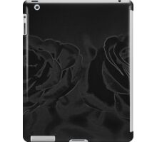 A pair of roses in black iPad Case/Skin
