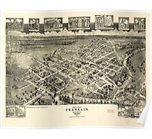Panoramic Maps Birds eye view of Franklin Southampton Co Virginia 1907 Poster