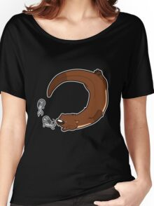 Swimming otter Women's Relaxed Fit T-Shirt