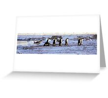 Emperor Penguins Coming Home Greeting Card