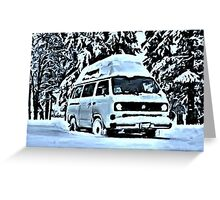 Snow toppped Greeting Card