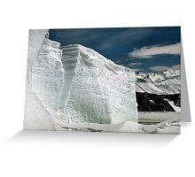 Tabular Icebergs and Fast Ice Greeting Card