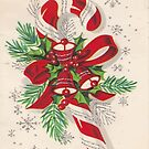 A Vintage Merry Christmas Candy Cane by taiche
