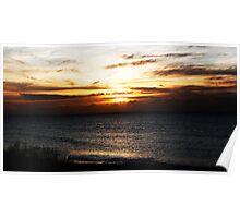 Bognor Sunset Poster