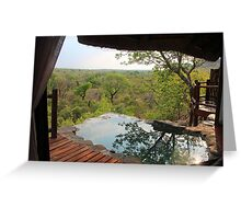 The African bush from the top of Leopard hills Greeting Card