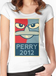 Perry the Platypus for President 2012 Women's Fitted Scoop T-Shirt