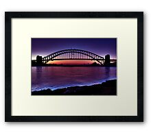 Start of a beautiful day Sydney Harbour Framed Print