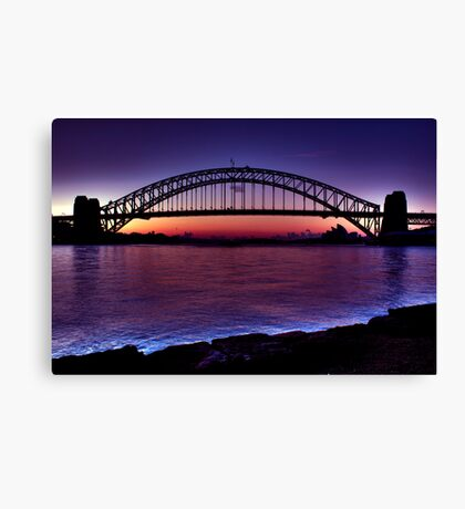 Start of a beautiful day Sydney Harbour Canvas Print