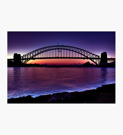 Start of a beautiful day Sydney Harbour Photographic Print
