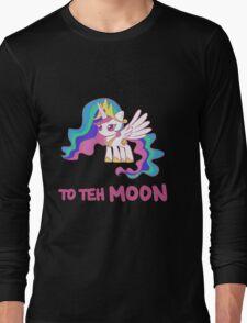 Filly Princess Celestia - To Teh Moon! Long Sleeve T-Shirt