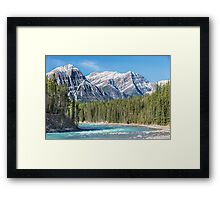 Athabasca River and the Canadian Rockies Framed Print