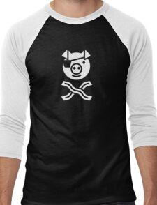 Pirate Pig Men's Baseball ¾ T-Shirt