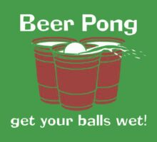 BEER PONG CHAMPION DRINKING GAME Kids Tee