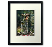 Milk Bottle Still Life Framed Print