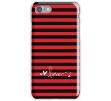 Love - red & black iPhone Case/Skin