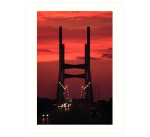 Bill Emerson Memorial Bridge at Dusk Art Print