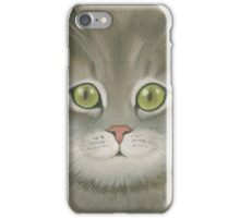 Gray kitten. iPhone Case/Skin