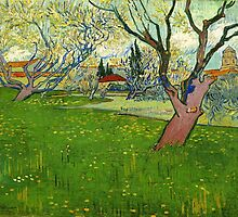 Vincent Van Gogh - Flowering Orchards with a view of Arles by lifetree