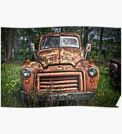 Curvaceous Flatbed Poster