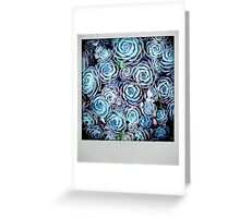 Psychedelic Succulent Flowers Greeting Card