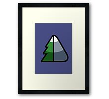 Forest and Mountain symbol Framed Print