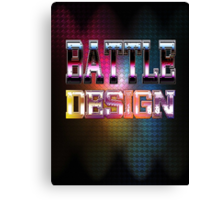 Battle Design Canvas Print