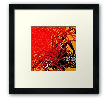 Abstract Graffiti Style Canvas Design Framed Print
