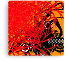 Abstract Graffiti Style Canvas Design Canvas Print