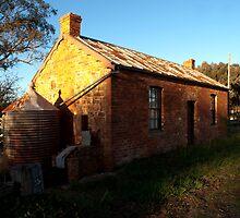 Early Settler's Cottage by John Sharp