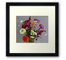 Color my life flowers vase Framed Print