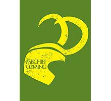 Mischief is Coming Photographic Print