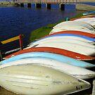Rowing boats by Pieta Pieterse