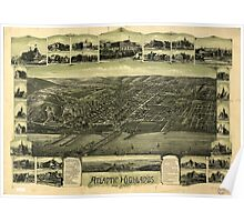 Panoramic Maps Atlantic Highlands New Jersey 1894 Poster